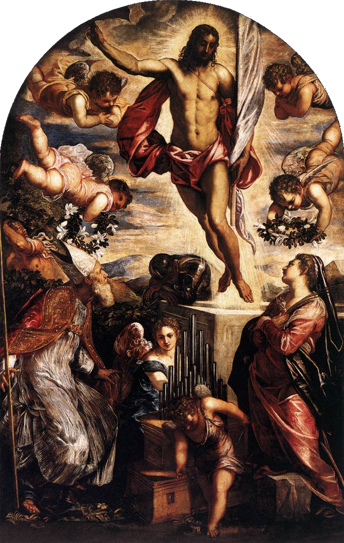 Kristaus prisikėlimas. Tintoretas.